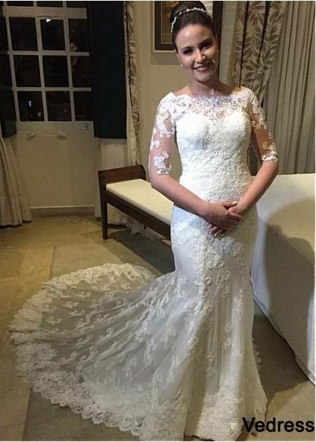 Vedress Lace Plus Size Wedding Dress T801525385685