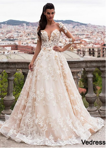 Vedress Beach Wedding Ball Gowns T801525386385