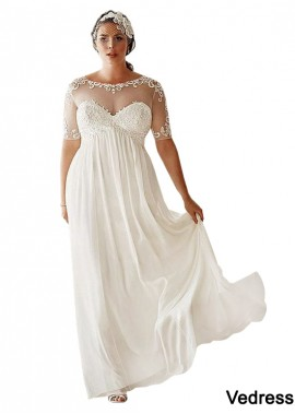 Vedress Simple Plus Size Wedding Dress