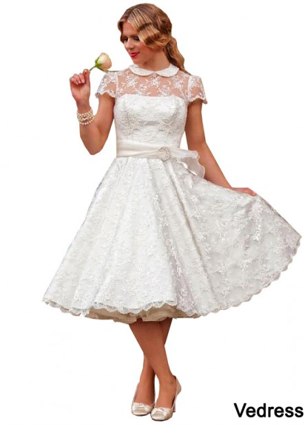 Vedress Short Plus Size Wedding Dress T801525332542
