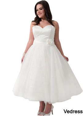 Vedress Short Plus Size Wedding Dress T801525317605