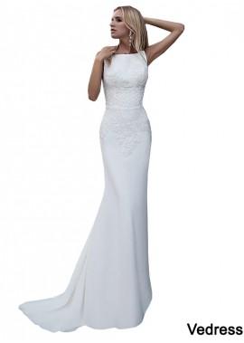 Vedress Casual Simple Beach Cheap Wedding Dresses