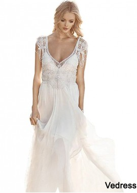 Vedress Unusual Unique Boho Princess Beach Wedding Dresses