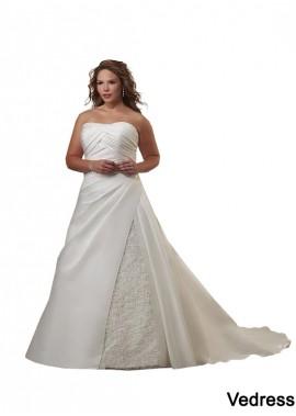 Vedress Plus Size Wedding Dress T801525329225