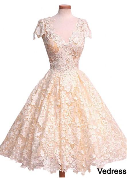 Vedress Short Lace Wedding Dress T801525337090