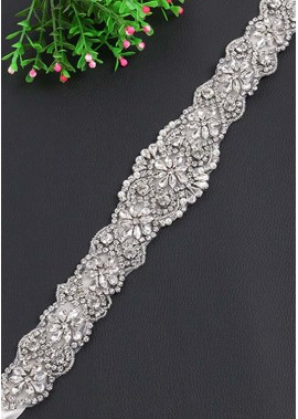 Fashion Rhinestone Flower Wedding Sashes t901555912194